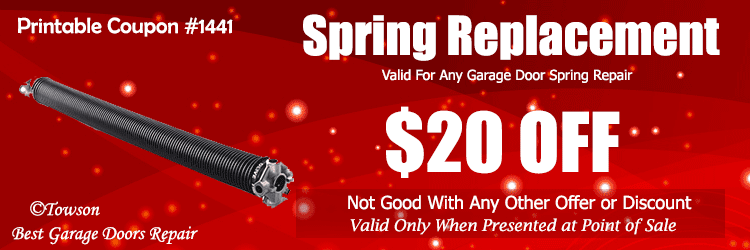garage door spring discount