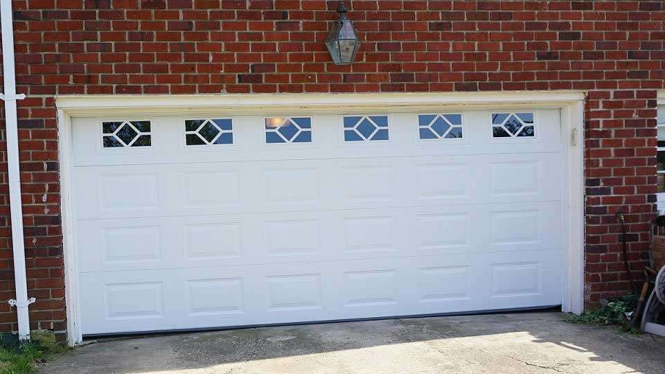 new garage door with windows